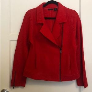 Tahari red jacket